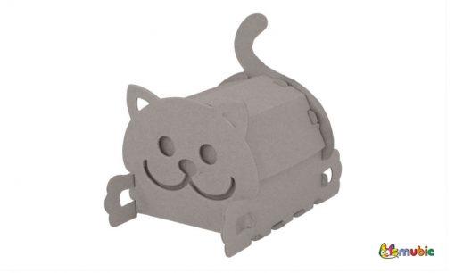 cardboard house box kitten