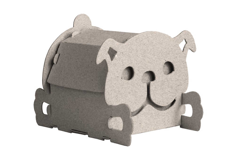 house box dog cardboard house