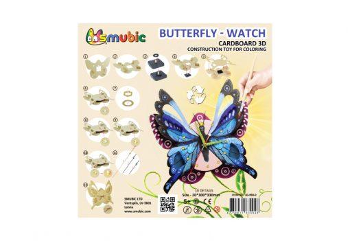 cardboard clock butterfly