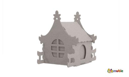 cardboard house box iris