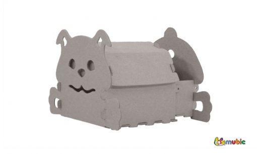cardboard house drawer puppy