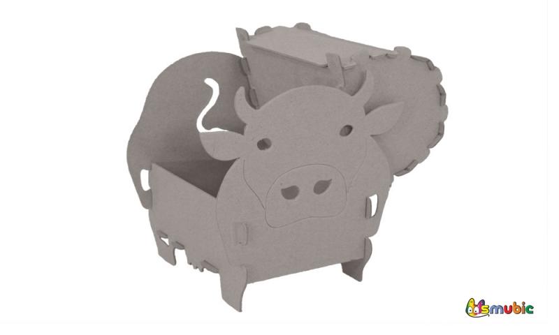 cardboard chest cow