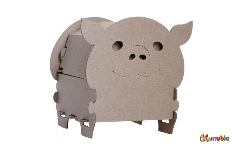 cardboard chest piggi